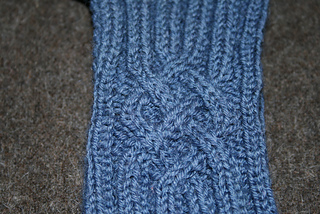 Blue King Cabled Mitts