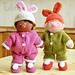 Nursery Baby in bunny suit pattern