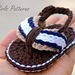 Sporty Flip Flop Baby Sandals for Boys and Girls pattern