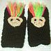 Troll Fingerless Gloves Toddler to Adult pattern