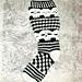 Plus Size Creepy Skull Knee Socks pattern