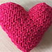Nearly No-Sew Textured Heart pattern
