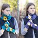 Sunflower Daisy Scarf & Arm Warmers pattern