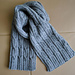 "Men's Scarf ""Cables"" pattern"
