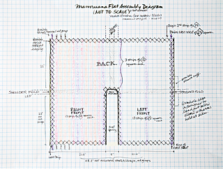 """The schematic I'm working from. Each strip is 45""""-46"""" long."""