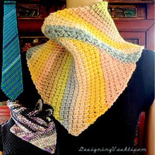 Three of several things to make with this one pattern. Includes instructions for the star stitch accent seam.