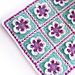 """Baby Girl Blanket """"Dancing Flowers"""" pattern"""