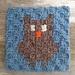 C2C  Owl Square pattern
