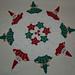 Christmas Peeking Santa and Elves Crochet Doily pattern