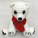 Polar Bear Christmas Ornament Amigurumi pattern
