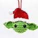 Santa Yoda Christmas Ornament Amigurumi pattern