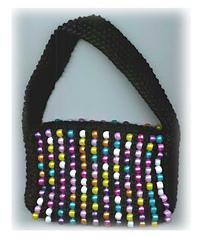 rainbow beaded bag