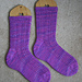 Double Eyelet Rib Toe-up Socks pattern