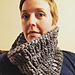 Staggered Rib Cowl pattern