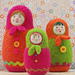 Felted Woolly Matroyshka Dolls pattern