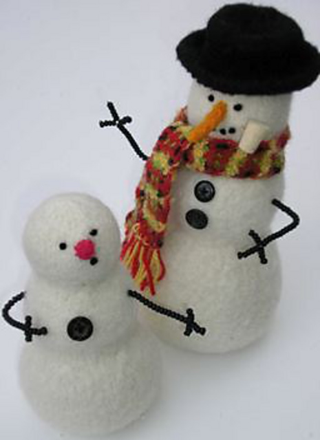 Ravelry Felted Snowman Pattern By Marie Mayhew