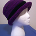 Ladies Roll Brim Crusher Hat pattern