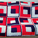 Crazy Log Cabin Afghan Quilt pattern