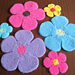 Felted Flower Hotpad and Coaster pattern