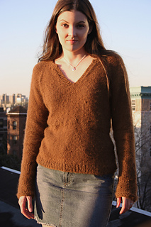 Split Neck T, Knitting Pure and Simple