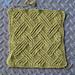 Twist-stitch Lattice with Lace (Stitch Pattern) pattern