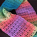 Textured V-Stitch Scarf pattern