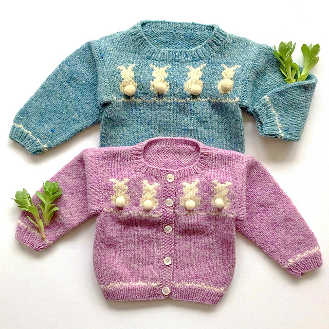 #11 Bunny Sweaters baby, toddler & kids sweaters pattern by Melinda Goodfellow