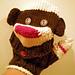 Sock Monkey Heads for Gloves pattern