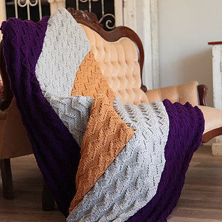 Ravelry: Zensation knitted blanket pattern by Saprotex ...