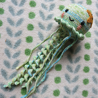 Amigurumi crochet jellyfish blue jellyfish toy jellyfish | Etsy | 320x320