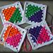 Rainbow Half Grannies Square pattern