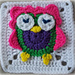 Zooty Owl Square pattern